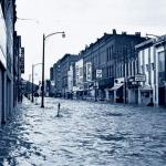 Flooding in Corning, NY. Hurricane Agnes, 1972